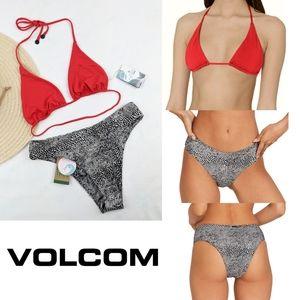NEW Volcom Solid Triangle Top Bikini
